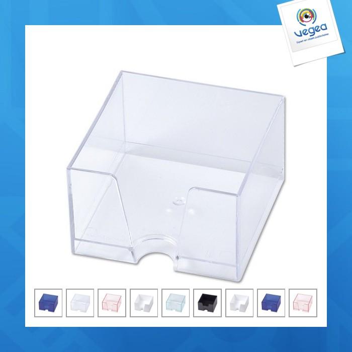 Demi-cube avec bloc papier blanc