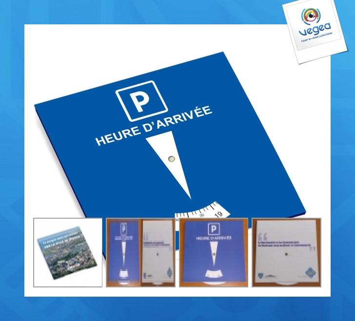 Disque de stationnement publicitaire personnalisé  européen zone bleue