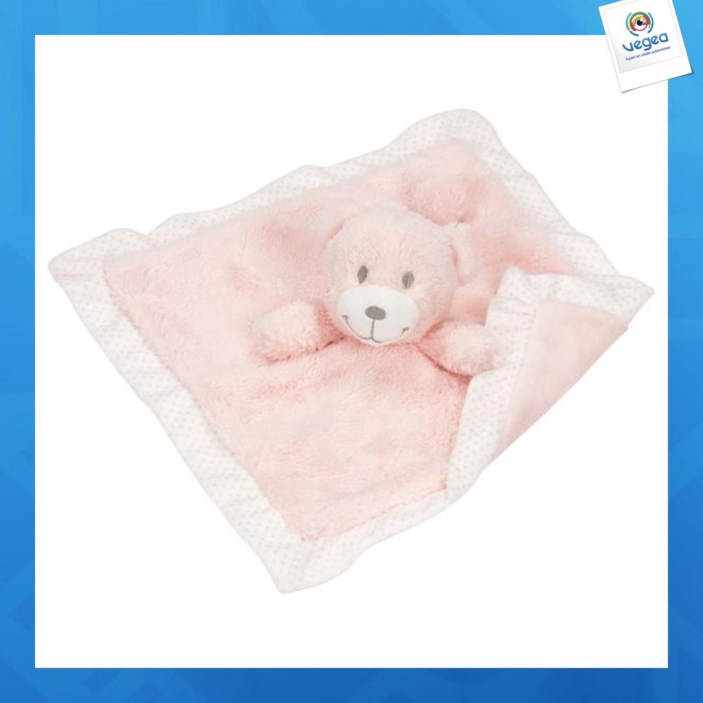Doudou logoté ours (rose)
