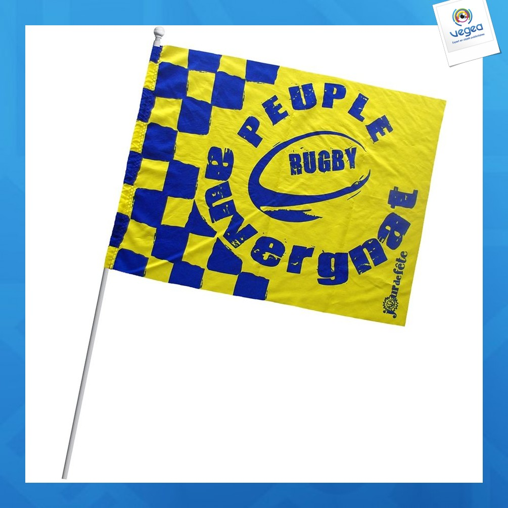 Drapeau de supporter personnalisable  21x15cm