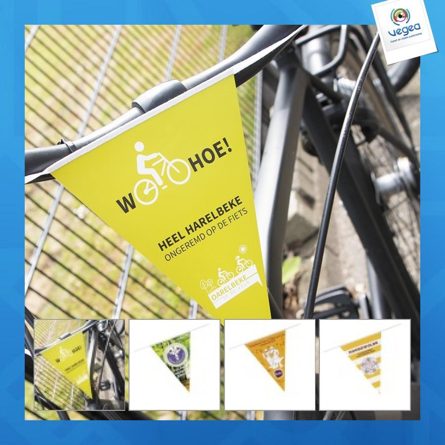 Drapeau de vélo publicitaire  / bicyclette