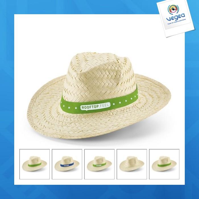 El clásico sombrero de paja de promoción