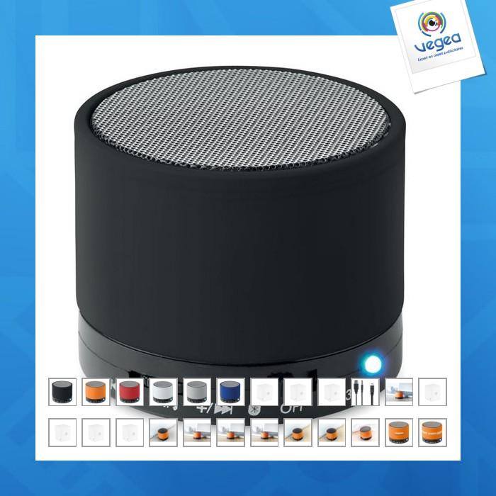 enceinte avec logo bluetooth ronde 3w 00010v0095612 partir de 8 05 euros ht. Black Bedroom Furniture Sets. Home Design Ideas
