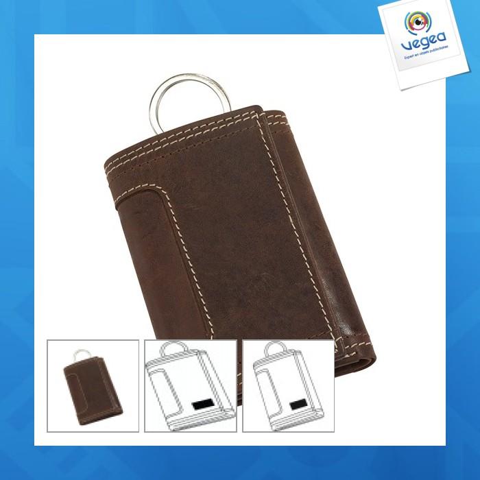 82bbea900111 Etui porte-clé en cuir véritable wild style personnalisable ...