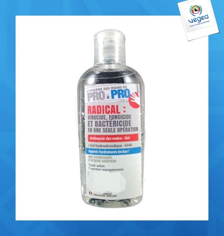 Flacon de gel logoté hydroalcoolique à clapet 100 ml
