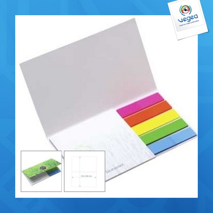 Flags + notepads booklet mini ecolutions