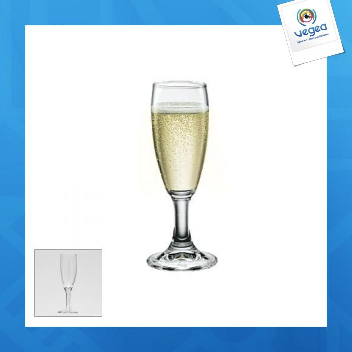 Flûte à champagne avec marquage  10cl