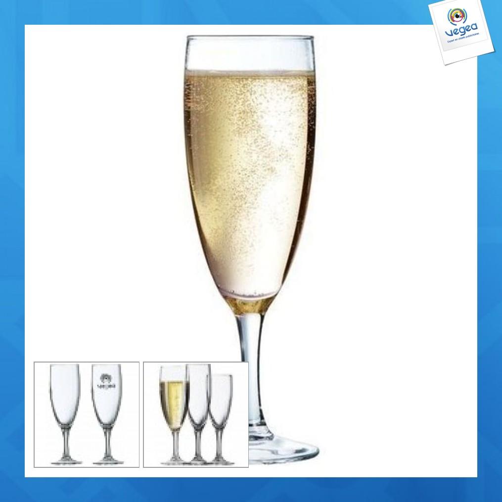 Flûte à champagne publicitaire elegance 13cl
