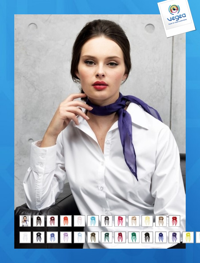 foulard personnalis e en soie femme 00015v0085421 partir de 8 77 euros ht. Black Bedroom Furniture Sets. Home Design Ideas