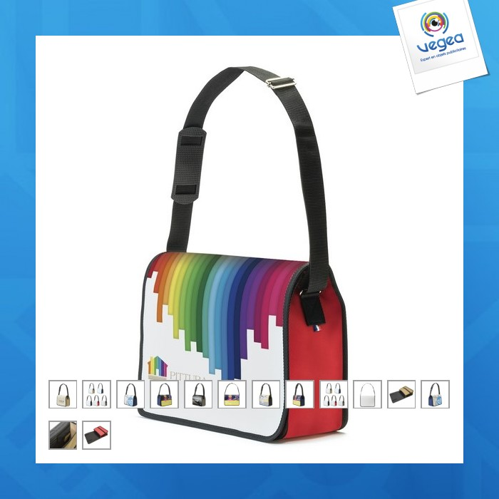 Four-colour messenger bag - french manufacture
