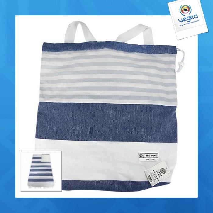 Fouta sac de plage personnalisable 2 en 1