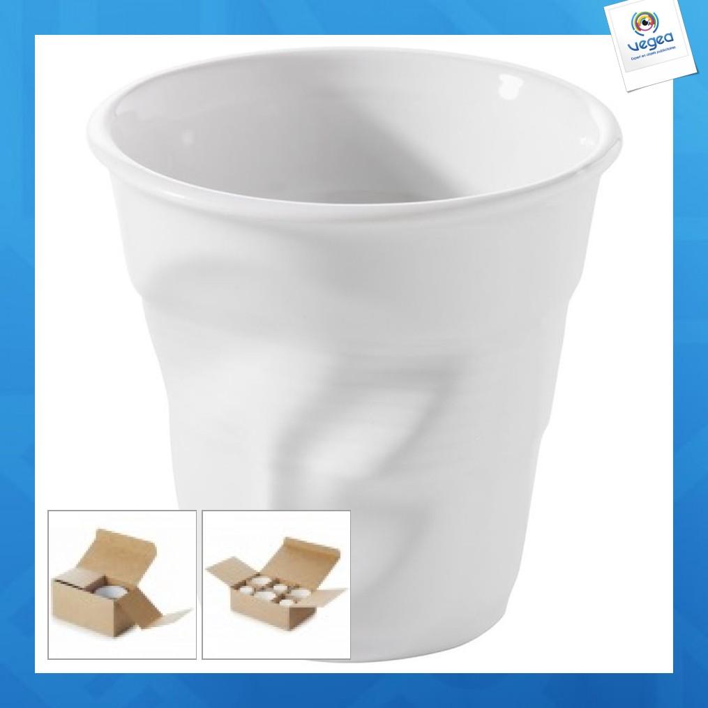 Gobelet froissé cappuccino blanc