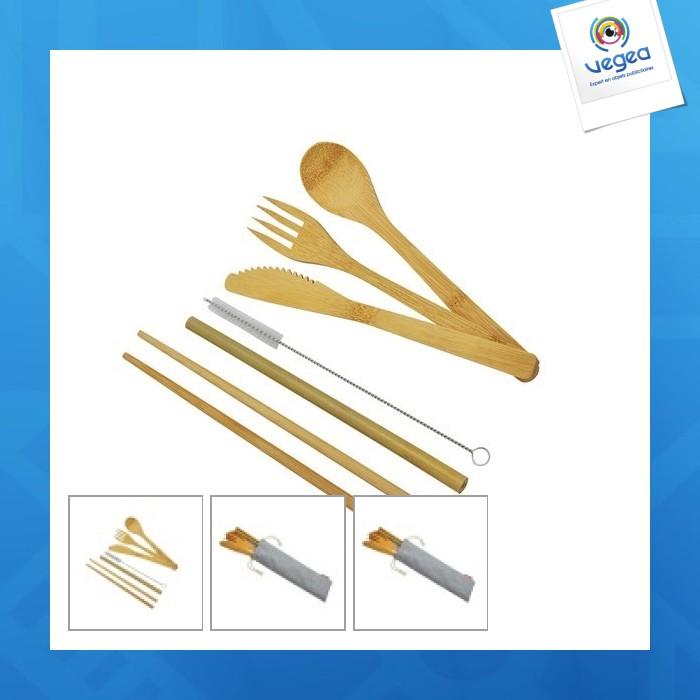 Gran juego de cubiertos de promoción de bambú