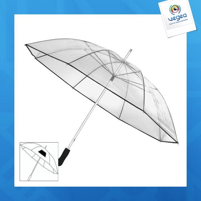 Grand parapluie transparent personnalisé