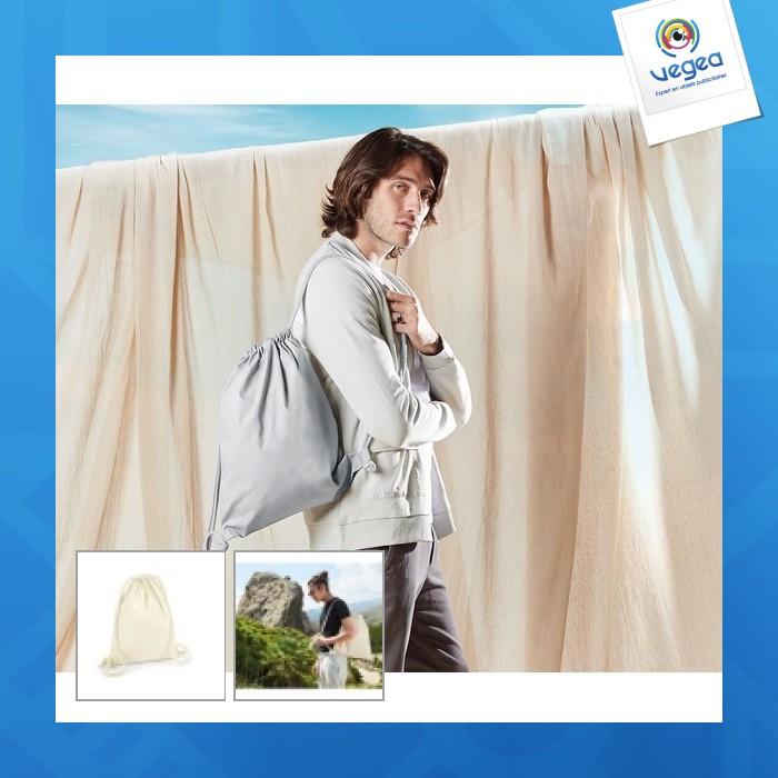 Gym bag personnalisable 200g en coton bio