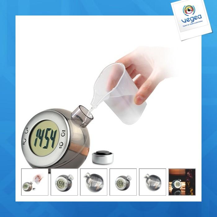 Horloge avec logo  à énergie liquide droppy
