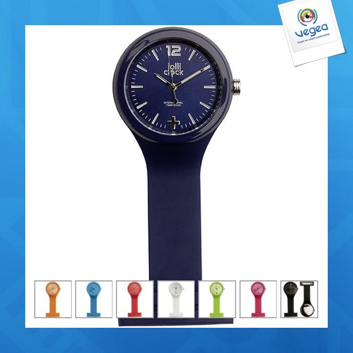 Horloge logotée lolliclock-care blue