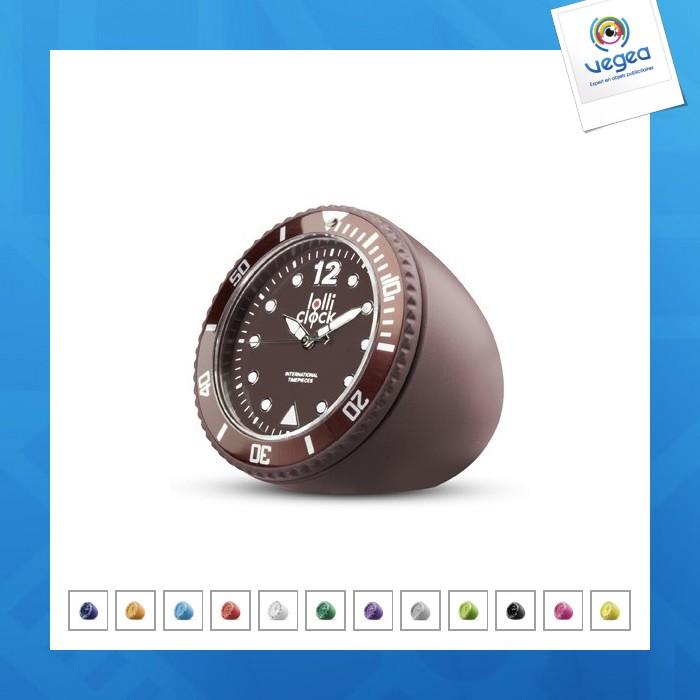 Horloge logotée lolliclock-rock blue
