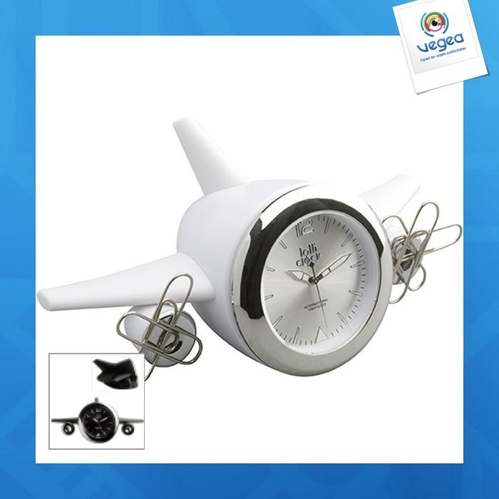 Horloge personnalisée  lolliclock-plane black