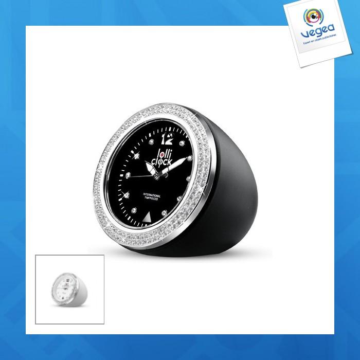 Horloge personnalisée  lolliclock-rock crystal black