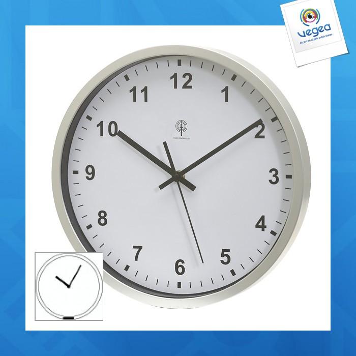 Horloge murale personnalisable radio pilotée neptune