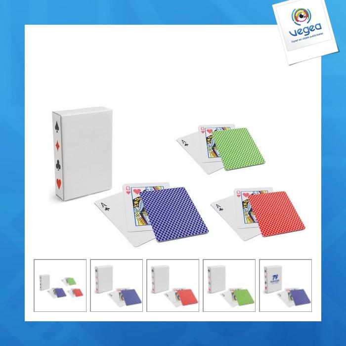 Jeu de cartes à jouer personnalisables générique