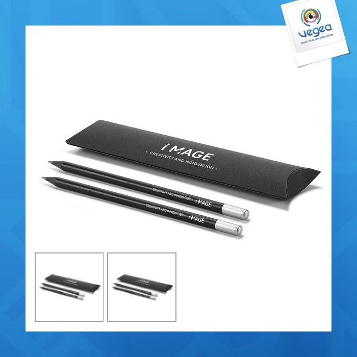 Kit 2 crayons noirs