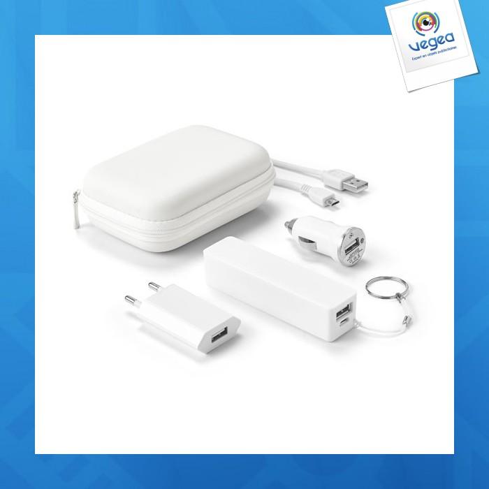 Kit de chargeurs avec batterie logotée 2.000 mah