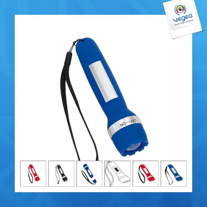 Lampe de poche avec logo  à led rechargeable en usb
