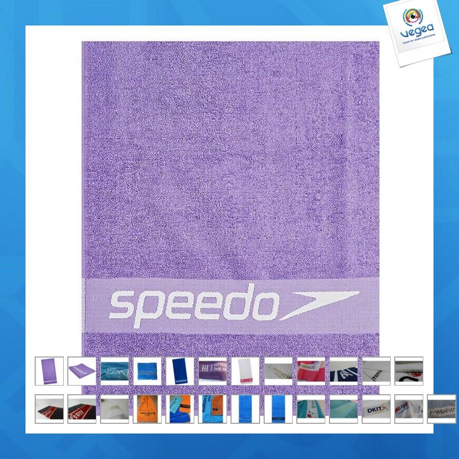 Red Speedo Sponge Leisure Towel 100x180 cm