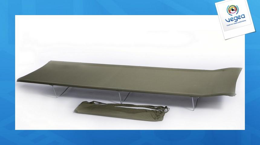 Lit tube vert fonce tube acier 180 x 58 cm