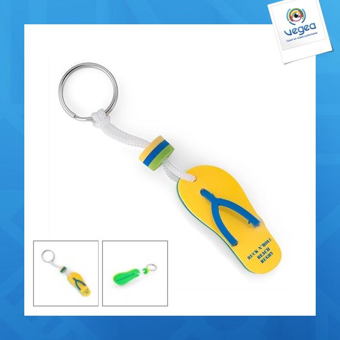 Llavero de espuma de promoción de eva flip-flop