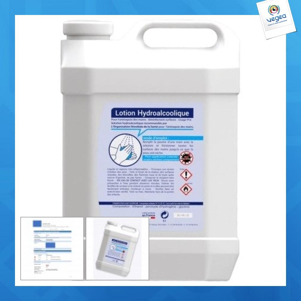 Lotion hydroalcoolique - bidon 5l