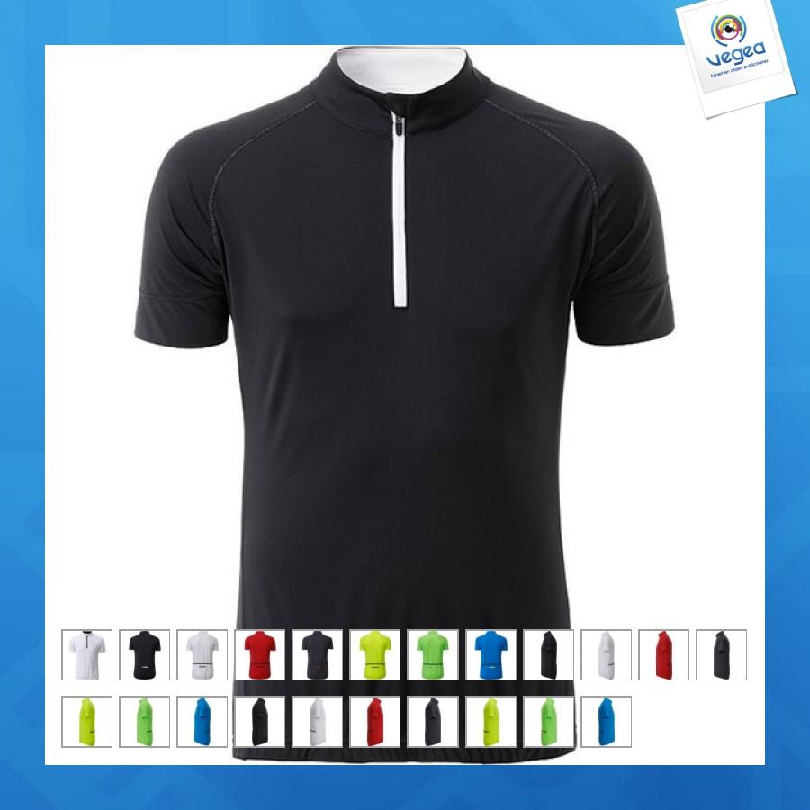 Maillot cycliste publicitaire  1/4 zip