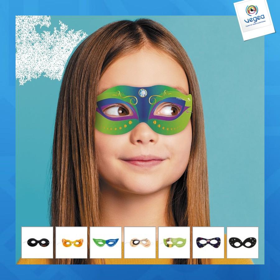 Masque personnalisé  d'yeux ou loup en papier carton