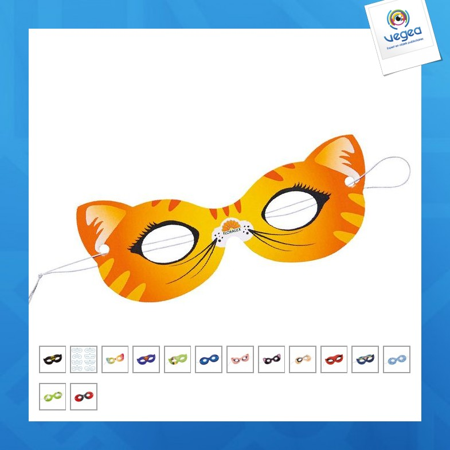 Masque d'yeux ou loup en papier carton
