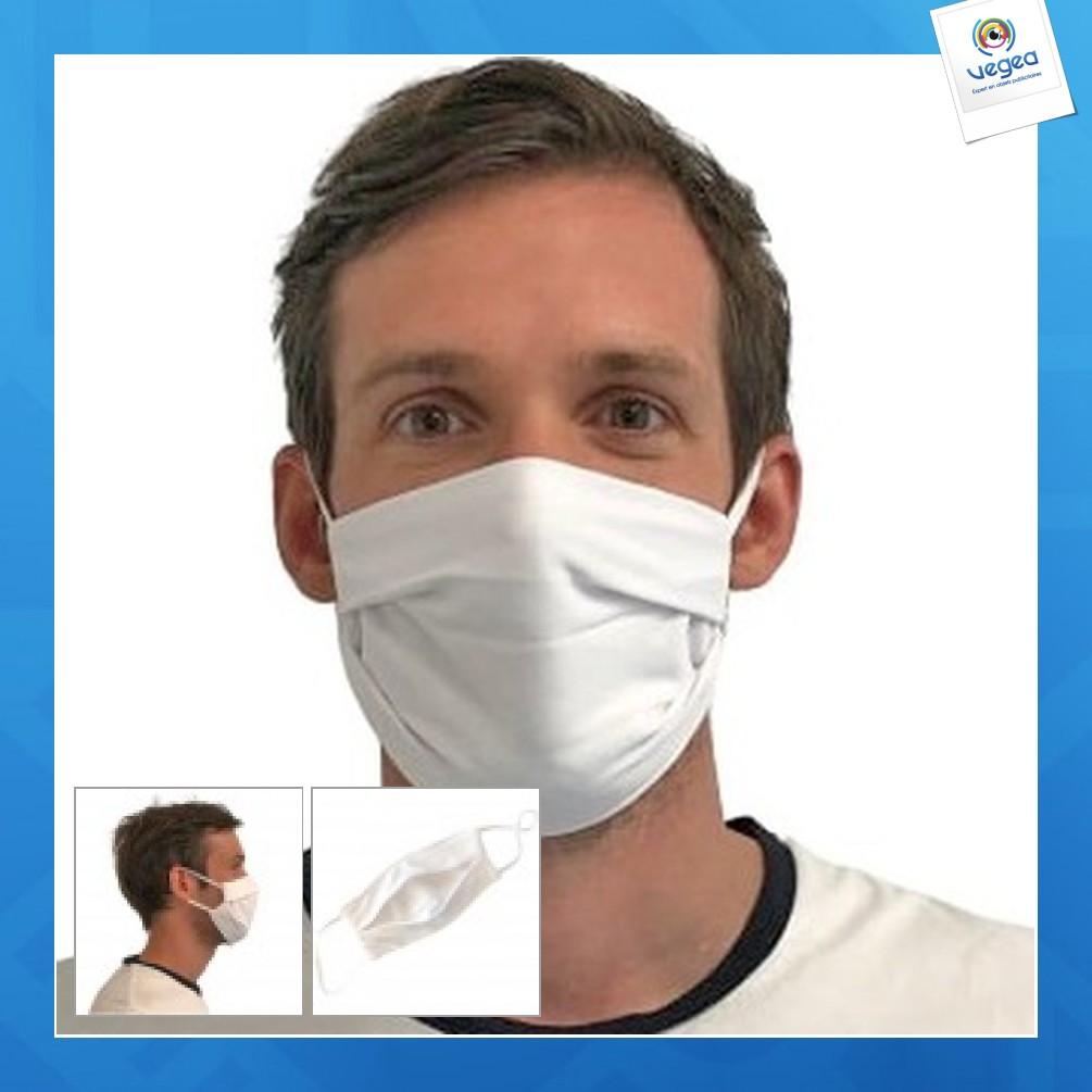 Masque réutilisable en tissu personnalisé uns1