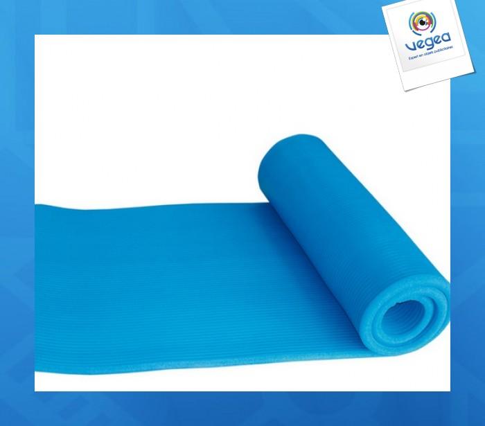 Matelas épais de sport fitness caoutchouc + polyéthylène eva 183 x 58 x 1 cm 58 cm (enroulé) x 18 cm