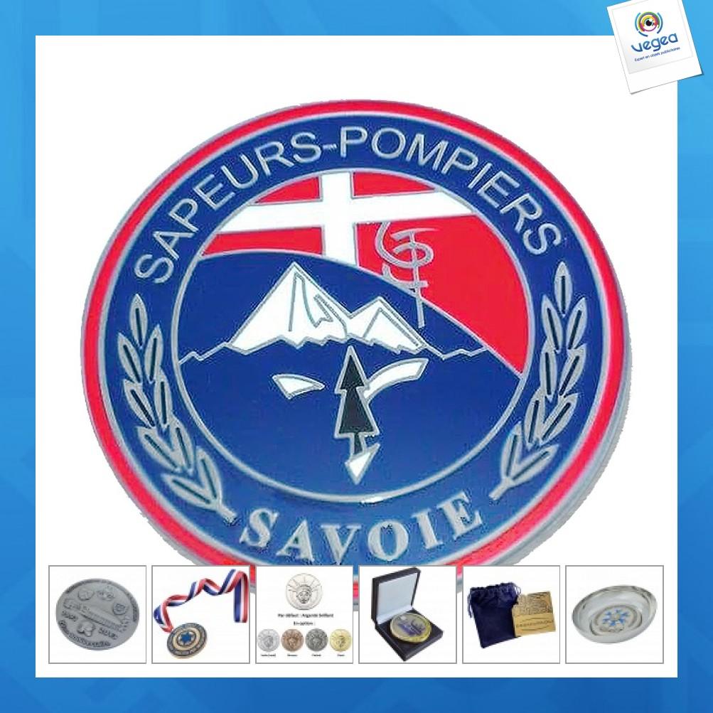 Médaille personnalisable pompiers