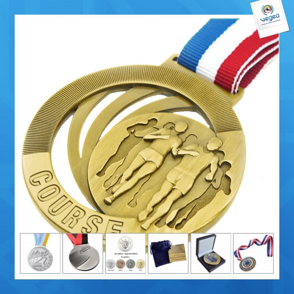 Médaille publicitaire marathon / finisher / running