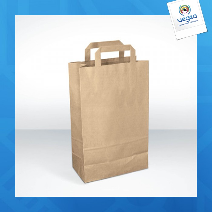 Medium - sac en papier recyclé logoté