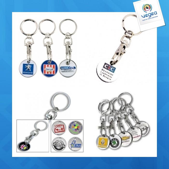 Metal token key ring
