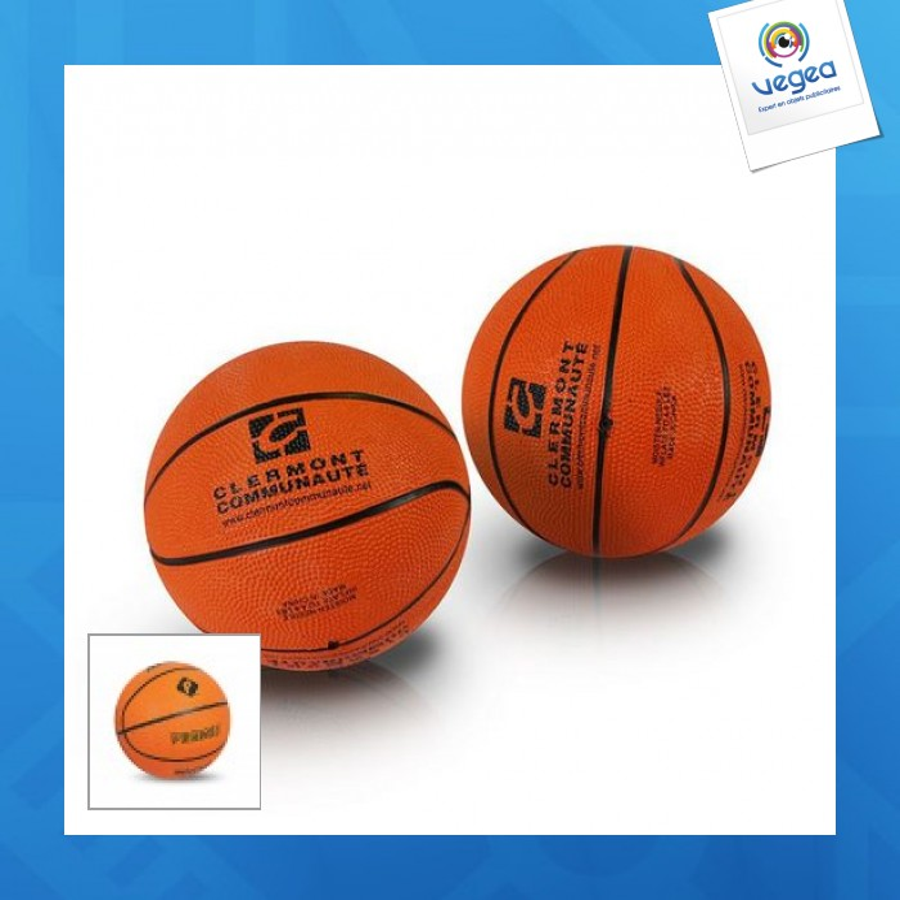 Mini ballon de basket publicitaire