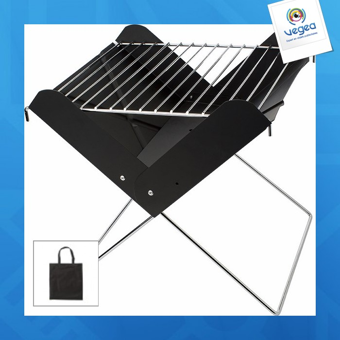mini barbecue avec personnalisation charbon pliable 00028v0068372 partir de 13 45 euros ht. Black Bedroom Furniture Sets. Home Design Ideas