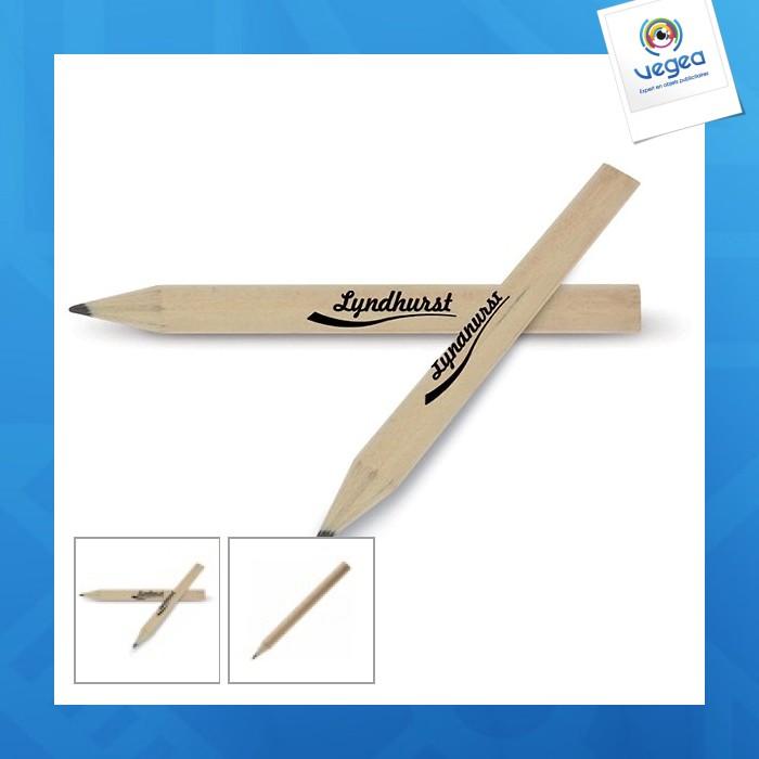 Mini crayon à papier logoté rond
