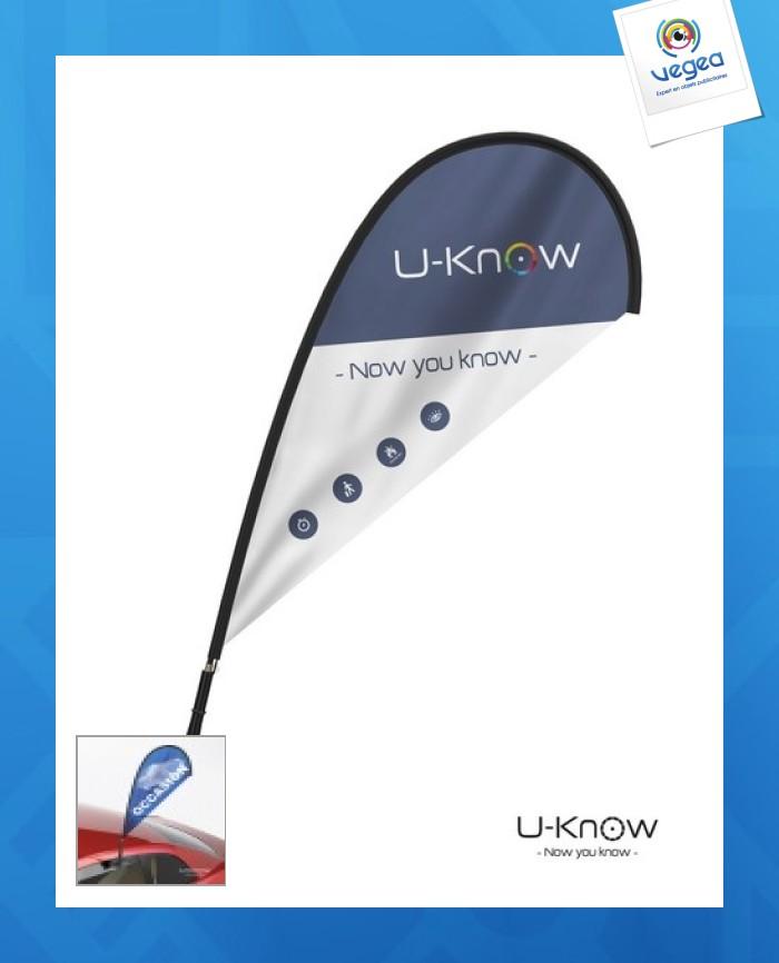 Mini drapeau publicitaire  pour voiture