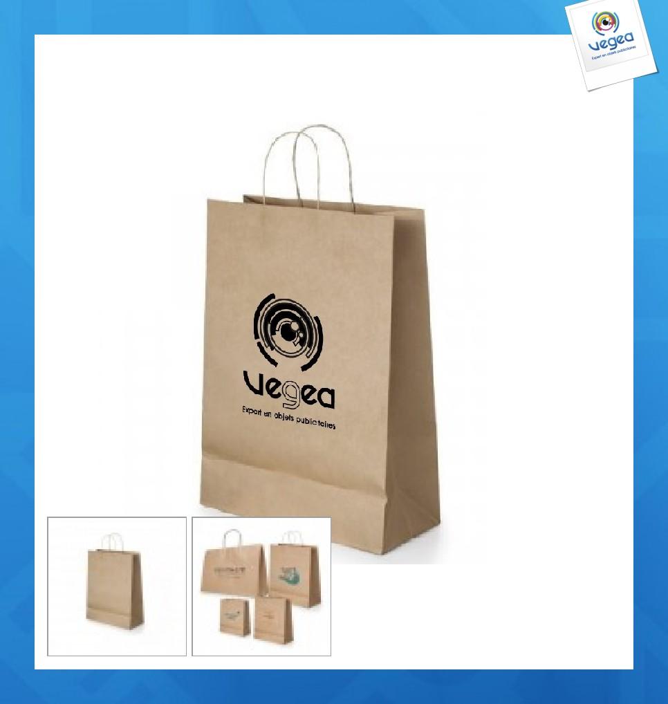 Mini sac en papier publicitaire kraft brun