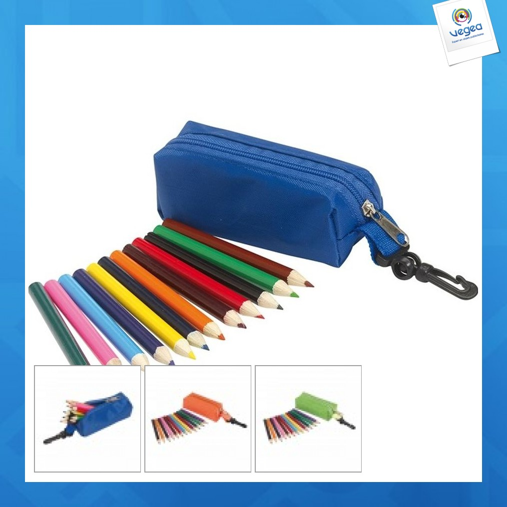Mini trousse 12 crayons