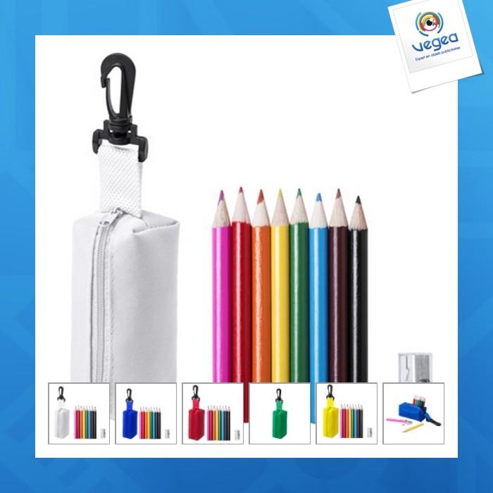 Mini trousse de crayons de couleur personnalisables