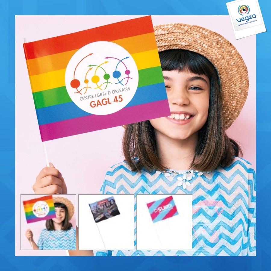 Moyen drapeau en papier personnalisable a4